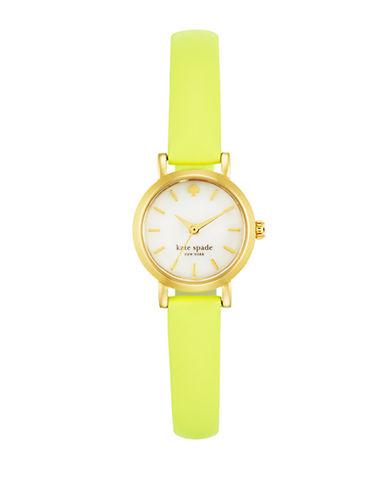 KATE SPADE NEW YORKLadies Flo Yellow Metro Watch