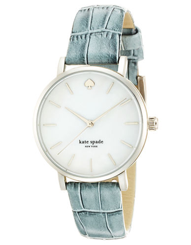 KATE SPADE NEW YORKLadies Metro Stainless Steel and Embossed Leather Watch