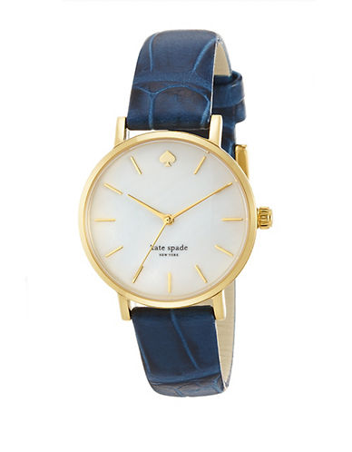 KATE SPADE NEW YORK Ladies Metro Watch with Embossed Leather Strap