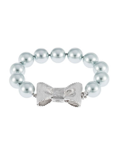 KATE SPADE NEW YORK Bow Accented Faux Pearl Bracelet