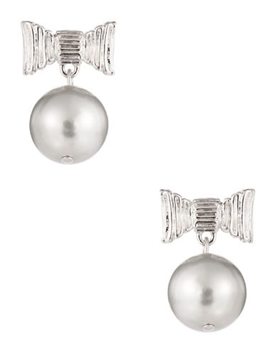 KATE SPADE NEW YORKBow Accented Faux Pearl Earrings
