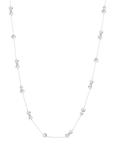 KATE SPADE NEW YORKBow and Faux Pearl Accented Opera Necklace