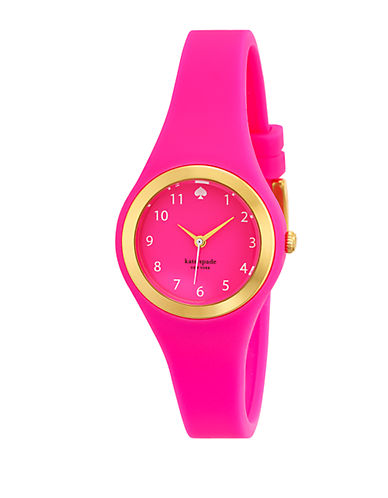KATE SPADE NEW YORK Ladies Rumsey Gold Tone and Hot Pink Watch
