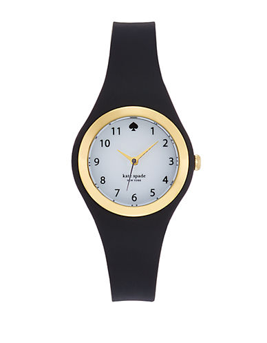 KATE SPADE NEW YORK Ladies Rumsey Gold Tone and Black Watch