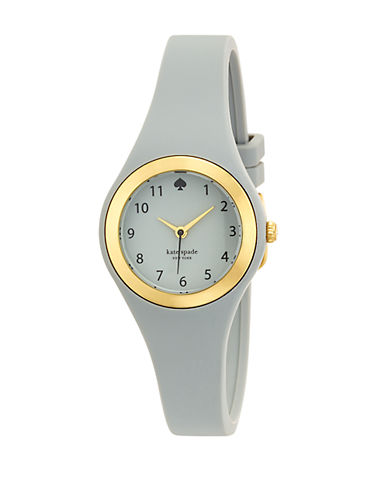 KATE SPADE NEW YORK Ladies Rumsey Gold Tone and Gray Watch