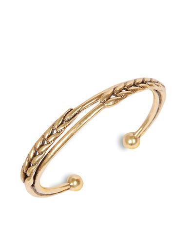 LUCKY BRANDGold Tone Wheat Cuff Bracelet