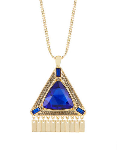 KENSIE Large Triangle Pendant Necklace