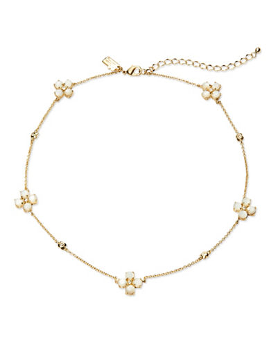 KATE SPADE NEW YORKCentral Park Pansy Station Necklace, 12 inch