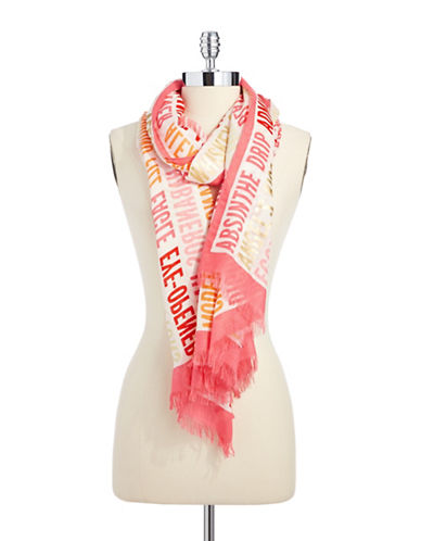 KATE SPADE NEW YORK Text Graphic Print Scarf