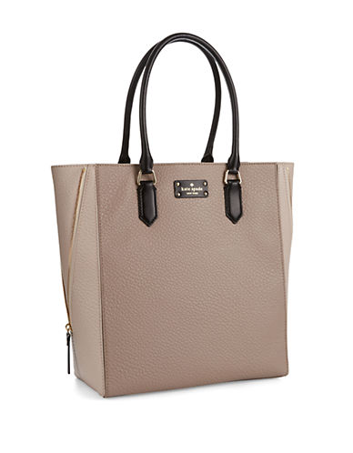 KATE SPADE NEW YORK Colorblock Pebbled Leather Tote