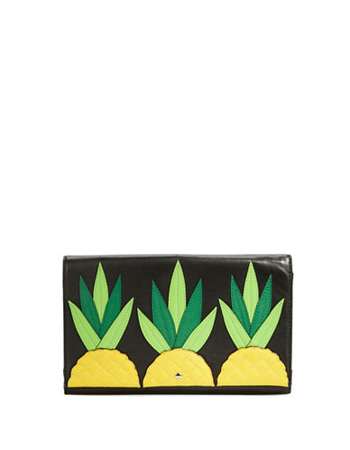 Kate Spade New York Wing It Tally Pineapple Leather Clutch
