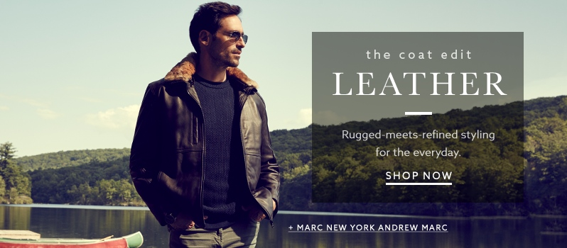 Men's Leather Jackets & Coats | Lord & Taylor