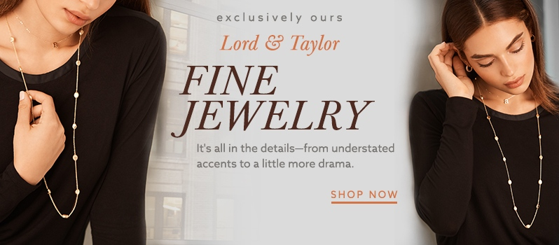 Gold necklaces and more trendy jewelry at lordandtaylor.com.