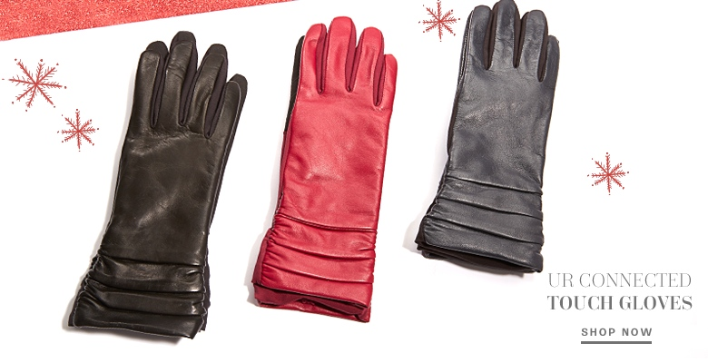 UR Connected Leather Touch Gloves