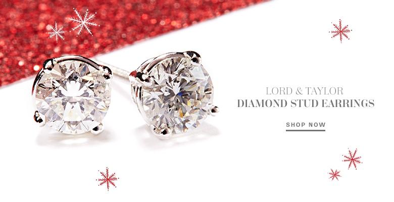 Lord & Taylor Diamond Stud Earrings