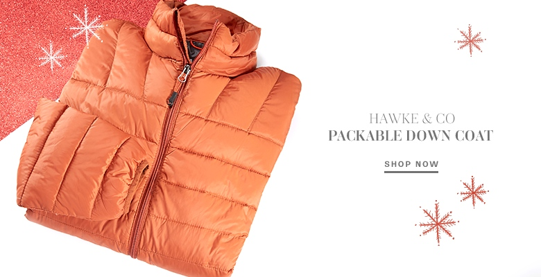 Hawke & Co Packable Down Coat