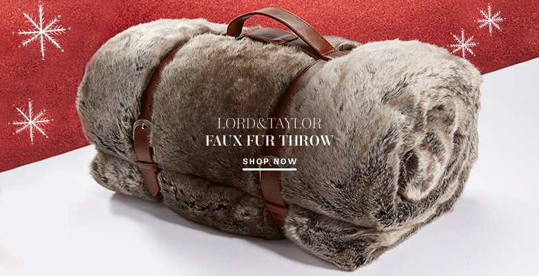 Lord & Taylor Faux Fur Throw
