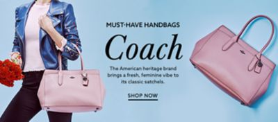 Coach Pink Leather Handbag At Lordandtaylor.com.