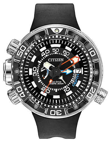 CITIZENMens Eco Drive Promaster Aqualand Depth Meter Watch