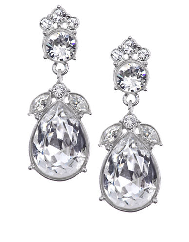 Givenchy Cluster Clear Stone Drop Earrings