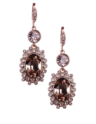 GIVENCHYRose Gold Tone and Crystal Double Drop Earrings