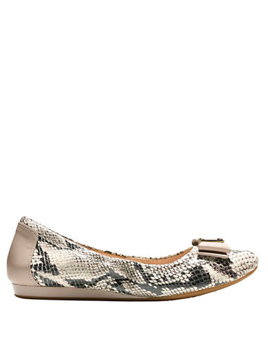 Cole Haan Tali Snakeskin Leather Ballet Flats