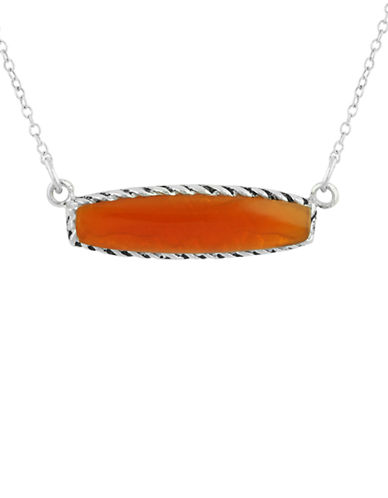 LORD & TAYLORHealing Bar Pendants Carnelian and Sterling Silver Pendant Necklace