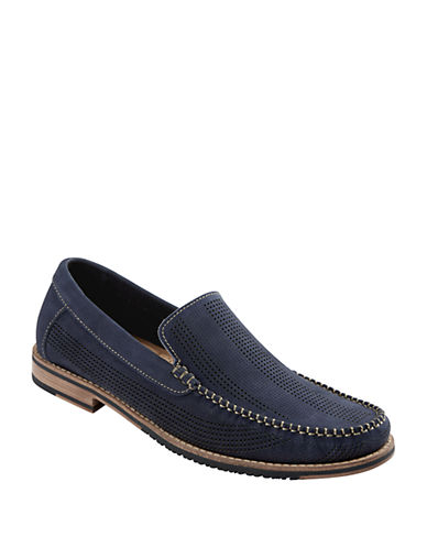 TOMMY BAHAMAFelton Perforated Nubuck Leather Loafers