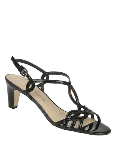 Trixie Patent Leather High-Heel Sandals