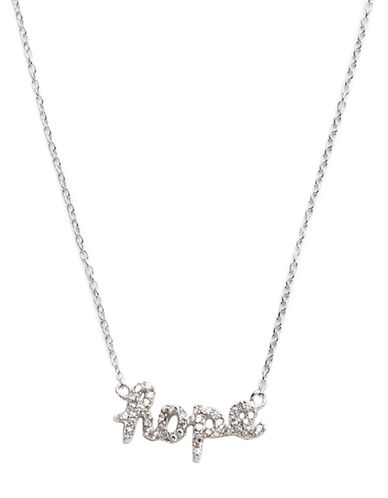 LORD & TAYLOR Pave Hope Script Necklace