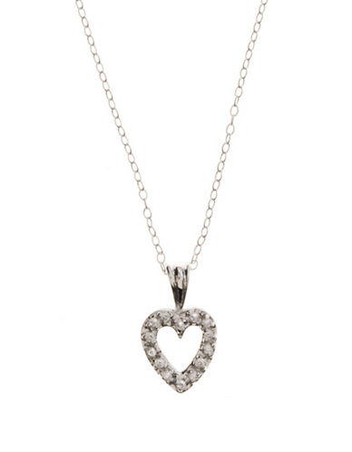 LORD & TAYLORSterling Silver And Cubic Zirconia Open-Heart Mini Pendant Necklace