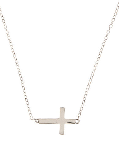 LORD & TAYLORSterling Silver Sideways Cross Necklace