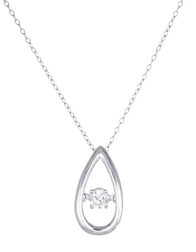 LORD & TAYLORSterling Silver and Cubic Zirconia Teardrop Pendant Necklace