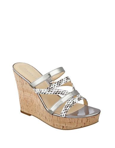 Buy Howens Wedge Platform Leather Slide Sandals by Ivanka Trump online
