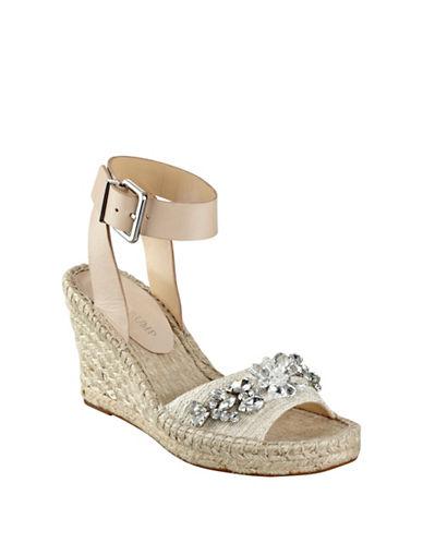 Buy Dixi Leather Espadrille Wedge Sandals by Ivanka Trump online