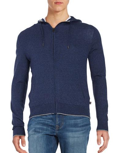michael kors male cotton zipfront hoodie