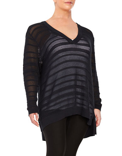 Plus Knit V-Neck Sweater plus size,  plus size fashion plus size appare