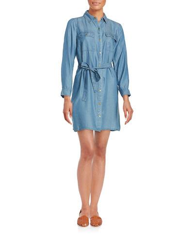 Plus Light Wash Denim Shirtdress plus size,  plus size fashion plus size appare