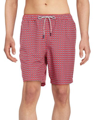 michael kors male 125046 geometric swim shorts