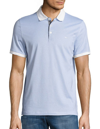 michael kors male patterned polo shirt