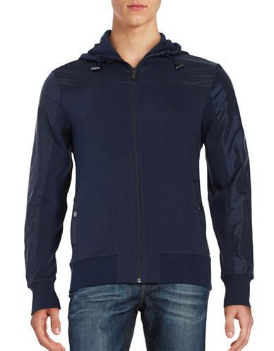 michael kors male zip front mixed texture jacket