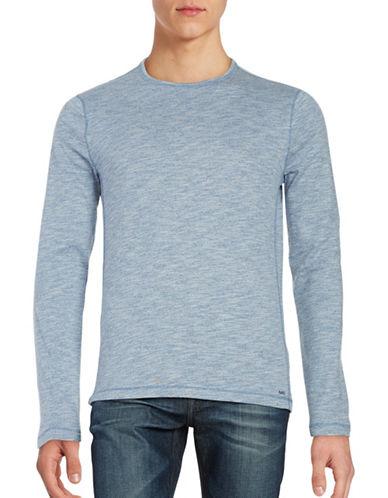 michael kors male heathered cewneck shirt
