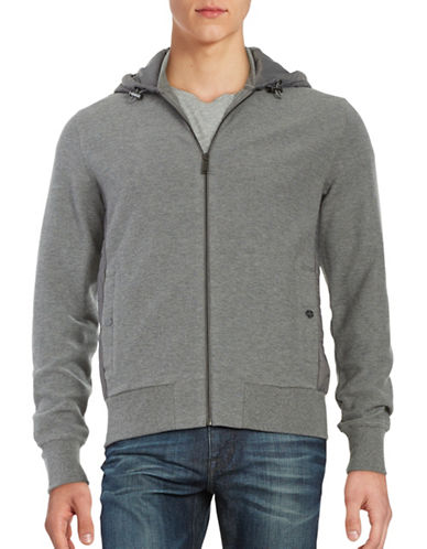 michael kors male quiltedback hooded jacket