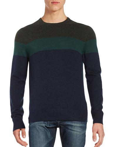 michael kors male 217293 woolblend colorblocked sweater