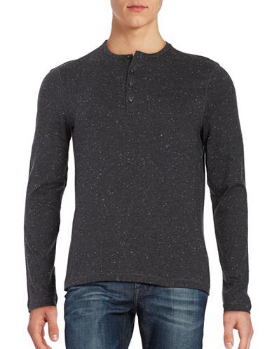 michael kors male textured henley shirt