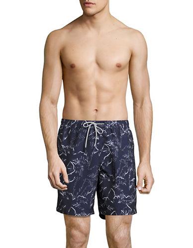 michael kors male palm printed swim shorts