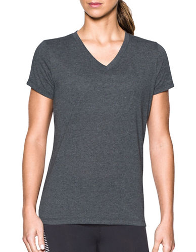 under armour female threadborne train twist vneck tee