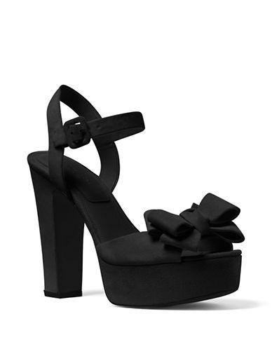 michael kors female 188971 lexington suede platform sandals