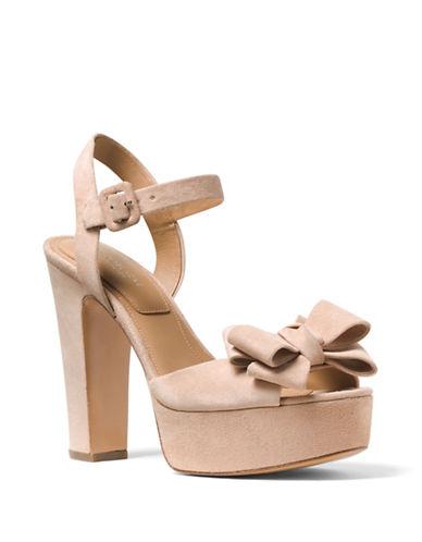 michael kors female 45985 lexington suede platform sandals