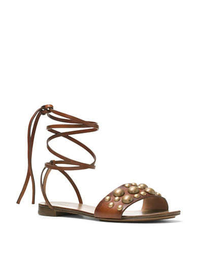 michael kors female 211468 mica studdedleather sandals